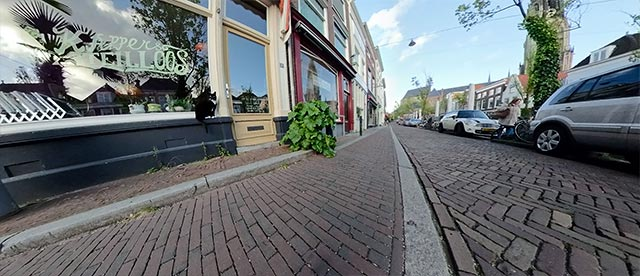 360°-VR-Panorama Vrouwjuttenland, Steilloos Kapper in Delft