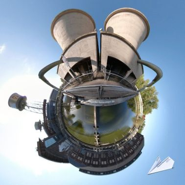 360 Grad Jahrhunderhalle Bochum Donald Duck oder Mickey Mouse Tiny Planet