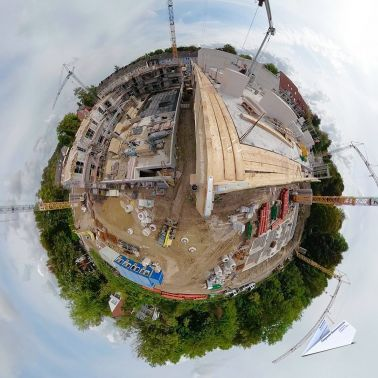 360 Grad Baustelle Tiny Planet