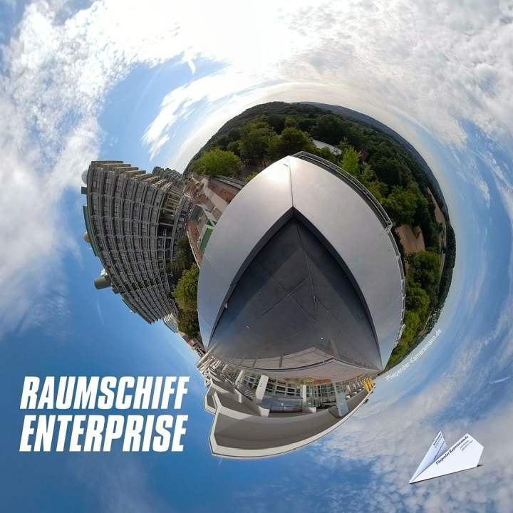 360 Grad Ruhruni Bochum Raumschiff Enterprise TIny Planet