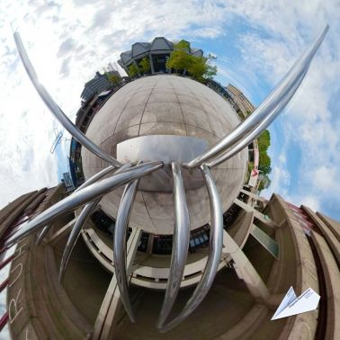 360 Grad Skulptur Toutes Directions  Ruhr Universitaet Bochum Tiny Planet