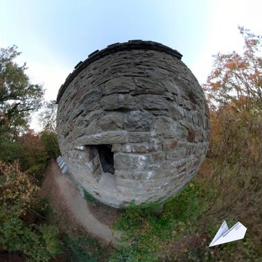 360 Grad Bismarckturm Hattingen Tiny Planet